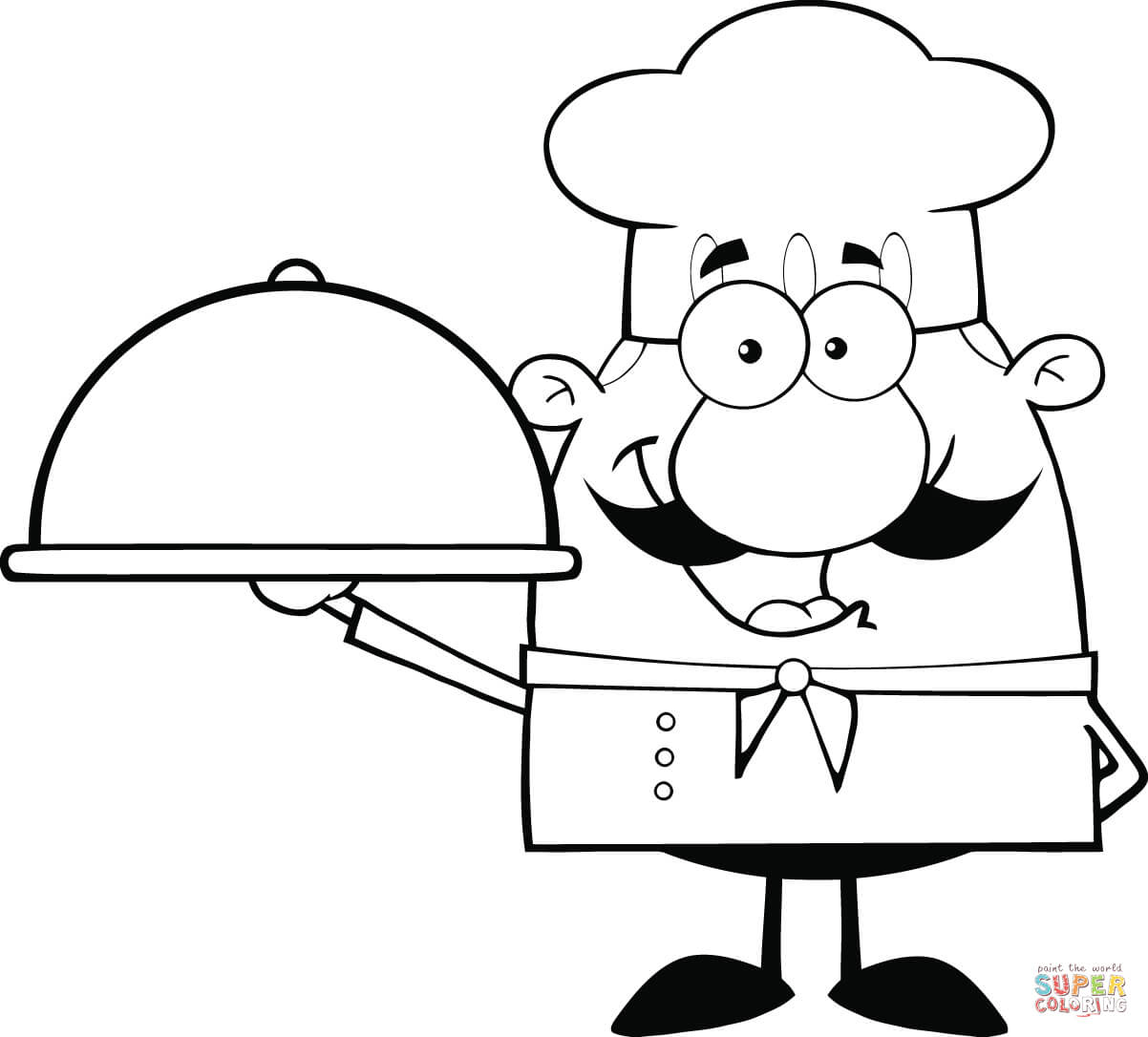 Coloring Pages Chef Is Cooking A Soup
